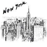 New York. Hand drawn illustration Royalty Free Stock Photography