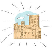 New york - hand drawn illustration Royalty Free Stock Image