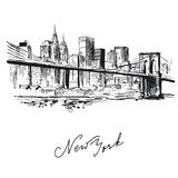 New york - hand drawn metropolis Stock Photography