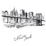 New york - hand drawn metropolis Stock Photography