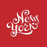 New York hand lettering Stock Photo