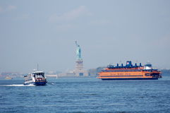 New York Harbor Ferries Stock Images