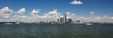 New York Harbor Panorama Royalty Free Stock Photos