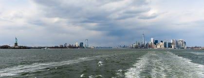 New York Harbor Skyline Stock Images