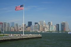 New York harbour. Viewed from ferry royalty free stock photos