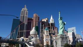 New York, het Hotel van New York en Casino met Achtbaan Stock Foto