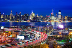 New York and Highways Royalty Free Stock Image