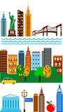 New York horisont royaltyfri illustrationer