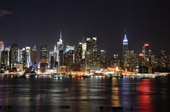 New York horisont Royaltyfria Bilder