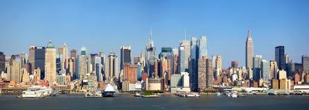 New York horisont Royaltyfri Bild