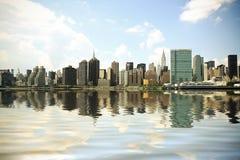 New York horisont Royaltyfri Fotografi