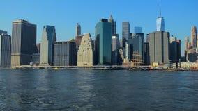 New York horisont Manhattan NYC förenade tillstånd arkivfilmer