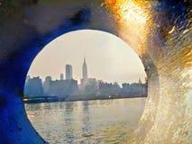 New York horisont, New York City, byggnad för väldetillstånd Fotografering för Bildbyråer