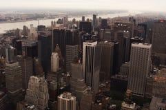 New York horisontarkitektur, skyskrapor royaltyfria bilder
