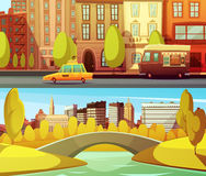 New York Horizontal Banners Royalty Free Stock Photography