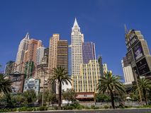 New York New York hotel casino in Las Vegas Royalty Free Stock Images