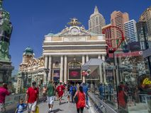 New York New York hotel casino in Las Vegas Royalty Free Stock Image