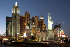 New York Hotel in Las Vegas Royalty Free Stock Photos