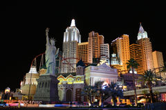 New York Hotel Las Vegas Stock Images