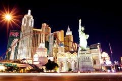 New York hotell-kasino i Las Vegas Arkivbilder