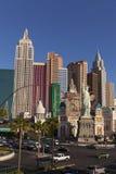 New York hotell på soluppgång i Las Vegas, NV på April 19, 2013 Fotografering för Bildbyråer