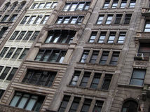 New york houses. Typical new york houses in manhattan, detail abstract photo, tilted Royalty Free Stock Photos