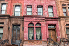 New York houses in Perron Harlem Royalty Free Stock Image