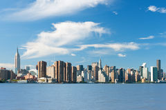 New York from Hudson river Royalty Free Stock Image