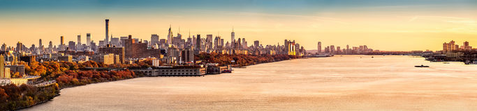 New York  and Hudson River panorama Royalty Free Stock Photo