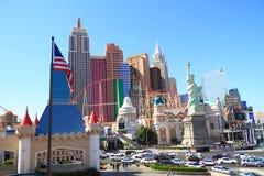 New York i Las Vegas Arkivbild