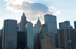 New York: I stadens centrum horisont- och trumfbyggnad på September 16, 2014 Arkivfoton