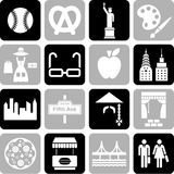 New York icons. Some icons related with the city of New York Royalty Free Stock Photo
