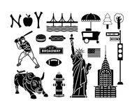 New York icons Royalty Free Stock Images