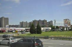 New York, il 1° luglio: Plaza della baia in Bronx da New York negli Stati Uniti Fotografie Stock