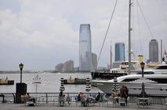 New York, il 2 luglio: Panorama del New Jersey da lungomare del posto di Brookfield da New York negli Stati Uniti fotografie stock