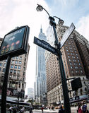 New York. Image of New York city streets, Broadway Royalty Free Stock Photography