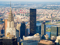 New York including the Chrysler Building and the Queensboro Brid Royalty Free Stock Images