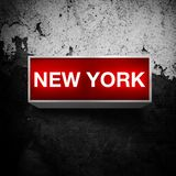 NEW YORK, indicador da luz do vintage Fotografia de Stock Royalty Free