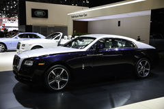Rolls-Royce showcased at the New York Auto Show. The New York International Auto Show is an annual auto show held in New York City in late March or early April Stock Images