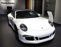 Porsche showcased at the New York Auto Show Stock Photo