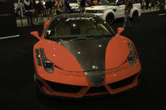 Mansory Ferrari 458 Italia showcased at the New York Auto Show. The New York International Auto Show is an annual auto show held in New York City in late March Stock Photography
