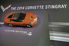 Corvette Stingray showcased at the New York Auto Show Royalty Free Stock Photos