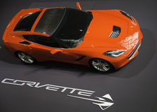 Corvette Stingray showcased at the New York Auto Show Stock Image