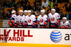 New York Islanders. 2011-12 New York Islanders NHL bench royalty free stock images