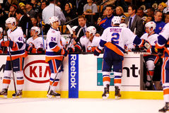 New York Islanders bench Royalty Free Stock Photos