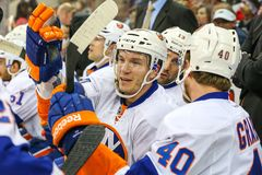 New York Islanders center Keith Aucoin Stock Photography