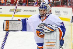 New York Islanders goalie Evgeni Nabokov Stock Photography