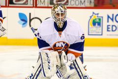 New York Islanders goalie Kevin Poulin Royalty Free Stock Photos