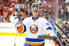 New York Islanders goalie Kevin Poulin Stock Images