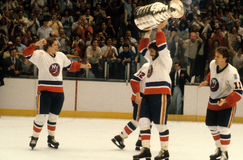 New York Islanders, Stanley Cup Champions. Members of the New York Islanders celebrate winning the Stanley Cup. (Image taken from color slide stock photos